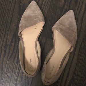 JCrew suede gray leather flats